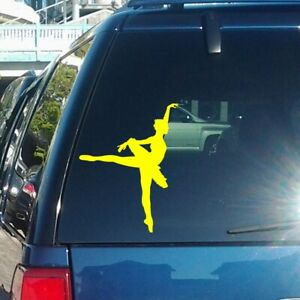 Ballerina Vinyl Decal fits cars, laptops, tablets and any smooth surface K316