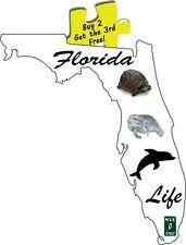 Key West Florida Life Fish Turtles Manatees Sun Beaches Decal # 430