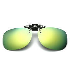 Flip Up Clip On Sunglasses Glasses Polarized Night Vision Driving Lens Eyewear