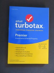 2019 Intuit TurboTax Premier Investments Federal State FAST AUTHENTIC DOWNLOAD
