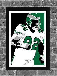 Philadelphia Eagles Reggie White Minister of Defense Portrait Print Art 11x17