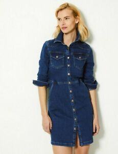 M&S Collection Size 8 Holly Willoughby Denim Dress