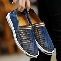 US 6-10 Summer Men Mesh Hollow Out Slip on Breathable Loafer Casual Beach Shoes