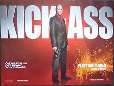KICK ASS  ORIGINAL CINEMA 2010 QUAD POSTER MARK STRONG FRANK D'AMICO