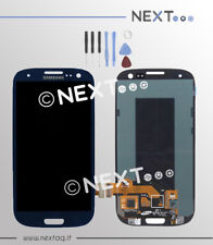 Schermo display vetro touch screen biadesivo Samsung Galaxy S3 i9300 blu + kit