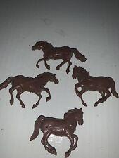 Vintage Marx Snap together horses Lot Of 4
