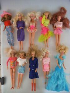 10 Barbie Puppen Konvolut ca. 1980er 1990er Jahre Mattel (4786d)