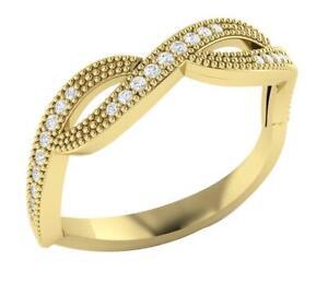 Anniversary Wedding Ring Yellow Gold I1 G 0.25 Ct Real Diamond 5.20MM Appraisal