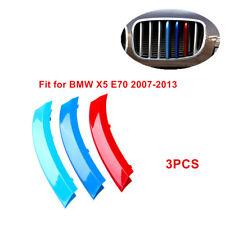 3PCS For BMW X5 E70 2007-2013 3-Color Front Grille Cover Insert Trim Fashion Kit