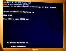 RARE Vintage 16 bit ISA 256Kb HMC HM86304 SVGA Video Graphics card