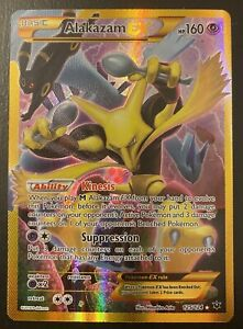 Pokémon XY Fates Collide Alakazam EX 125/124 Full Art Gold Secret Rare