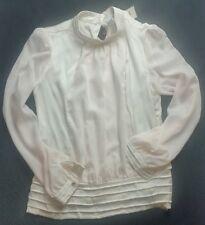 Vila Clothes Bluse creme weiß beige NEU L 39,00 Eur Barock Weihnachten