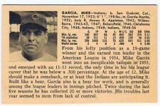 1956 Mike Garcia Vintage ULTRA RARE card - Cleveland Indians