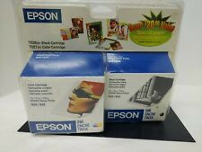 Epson 820 925 stylus photo printer ink cartridge color and black T027201 T026201
