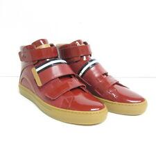 P-837993 Neu Bally Herick Rot Leder Hoch Top Sneakers Größe US 7.5D Fr 40.5