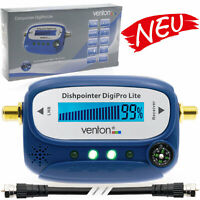 Sat Finder Digital SATFINDER LCD Display TON Kompass HDTV UHD 4K Zubehör