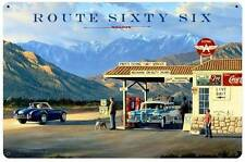 Stokes Route Sixty Six 66 Metal Sign Gas Station Man Cave Garage BodyShop STK012