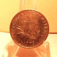 CIRCULATED 1978 1 FRANC FRENCH COIN (61517)1.....FREE SHIPPING !!!!!