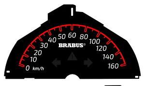 Smart  ForTwo 451 Brabus 2007-2014 Tachometer bis zu 160 km/h rote Skala