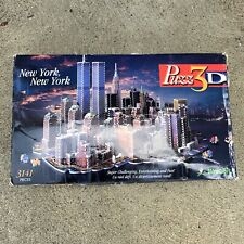 Puzz 3D New York, New York Wrebbit 3141 Puzzle WTC Twin Towers Vintage 1997 USA