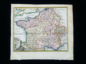 1710 CLUVERIUS: Gallia Descriptio, France, Paris, Britanny, Nantes, Loire, Nice