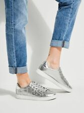 GUESS Silver Trainers, Size UK 7 EU 40, Women's Logo Sneakers, Brand New In Box