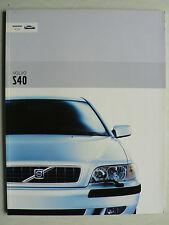 Prospekt Volvo S40, 2003, 60 Seiten