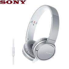 Écouteurs blancs microphone avec fil