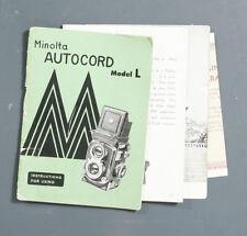 MINOLTA AUTOCORD MODEL L INSTRUCTIONS/137406