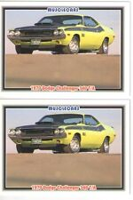 1970 Dodge Challenger T/A 340 Six Pack Baseball Card Sized Cards  - Must See !!