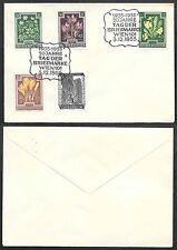 1955 Austria Cover - Tag der Briefmarke - Flower Stamps