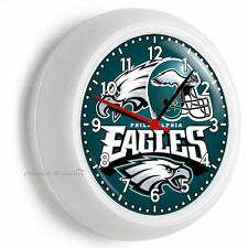 Philadelphia Eagles Nfl Football Team Logo Wall Clock Man Cave Boys Room Bedroom