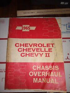 1965 Chevrolet Chevelle Chevy II Shop Overhaul Manual