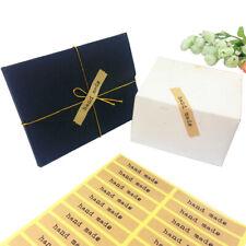 Handmade Wrap Stickers Baking Gift Craft Homemade Self Adhesive sheets of 12