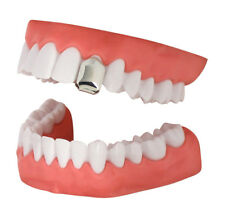 Single Tooth Cap Silver Tone Small Grillz Hip Hop Teeth Grill w/Mold