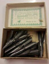 Klassisch Schwanenfeder Federhalter Set Metall Schreibfeder Federkiel Tintenfass