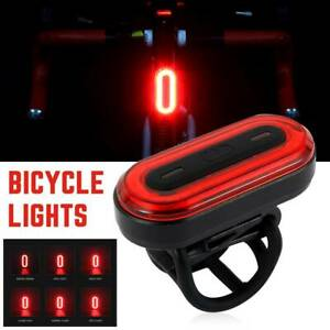 Bike Light Bicycle Cycling USB Rechargeable Front Rear Headlight LED Tail Lamp