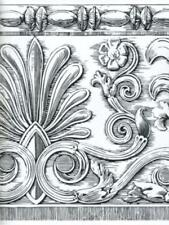 ARCHITECTURAL BLACK AND WHITE DAMASK WALLPAPER BORDER