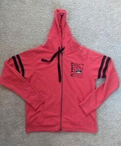 UNLV Hoodie University of Nevada Las Vegas Full Zip Jacket Women's Large Red