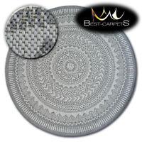 MODERN NATURAL SISAL grey round RUG FLAT PRACTICAL Carpet Flat Weave easy clean