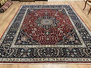 Perserteppich Orientteppich Isfahan fein Teppich Korkwolle 305 x 252 Neuwertig