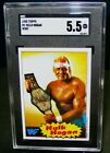 SGC 5.5 EX+ 1985 Topps HULK HOGAN Rookie Wrestling Card #16 WWF