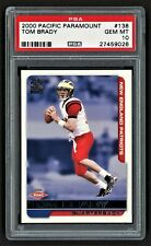 2000 PACIFIC PARAMOUNT TOM BRADY #138 NEW ENGLAND PATRIOT ROOKIE PSA 10 GEM MINT