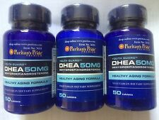 DHEA X3 BOTTLES 50MG. 50 PER BOTTLE _ TOTAL150 FREE SHIPPING WORLDWIDE FROM UK