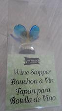NEW! STUDIO 18 Wine Stopper Bouchon a Vin. YELLOW & BLUE FLOWER (GLASS)