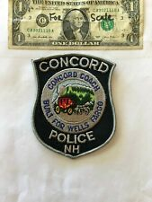 Concord New Hampshire Police Patch un-sewn in great shape
