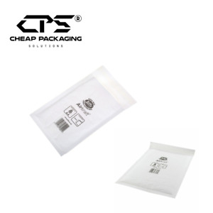CPS Genuine Jiffy Bubble Padded Envelopes Mailers - White - All Size - 25 Pcs
