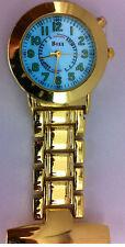 Boxx Gold Nurse Fob Watch With LED Back Light F038.02 Lumibrite
