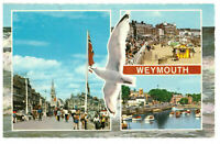 Weymouth, Dorset, England Rare Multiview Picture Postcard