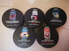 IIHF Ice Hockey Pucks X5